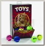 Игрушка для кошек Beeztees Мяч теннисный с колокольчиком, шоубокс