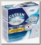 Наполнитель Catsan Active Fresh для кошачьего туалета, комкующийся