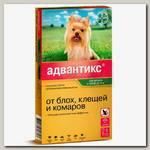 Капли для собак мелких пород до 4 кг Bayer Адвантикс 40С от эктопаразитов, блох, клещей и комаров, 1 пипетка