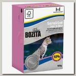 Консервы для кошек Bozita Tetra Pak Funktion Sensitive Hair&Skin для здоровой кожи и шерсти, кусочки лосося в желе
